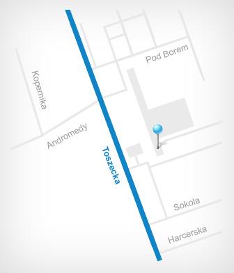 Lokalizacja Biura Projektowego ARINET